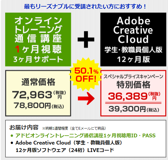 AdobeCreativeCloudを安く買う